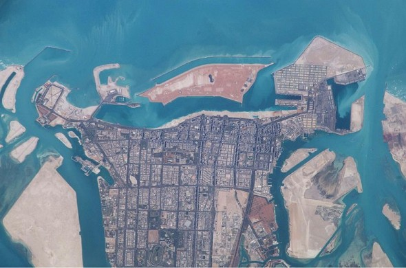 Abu Dhabi from Space