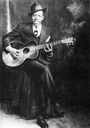 Blues legend Robert Johnson.